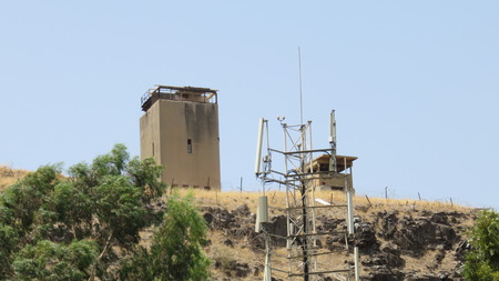 lookout tower abandoned in golan