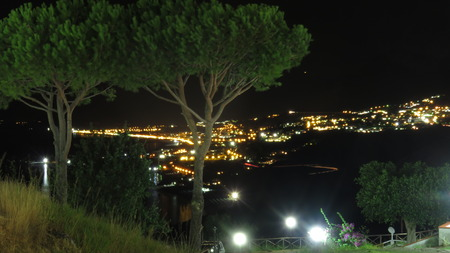 night view of the Gulf of Policastro Stock Photo