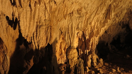 paleolithic: cave of the hermit Stock Photo