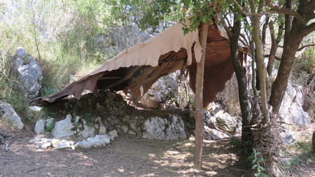 palaeolithic: examples of tents Palaeolithic
