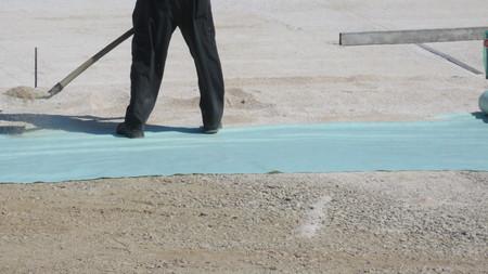 sheath: mason lays sheath floor