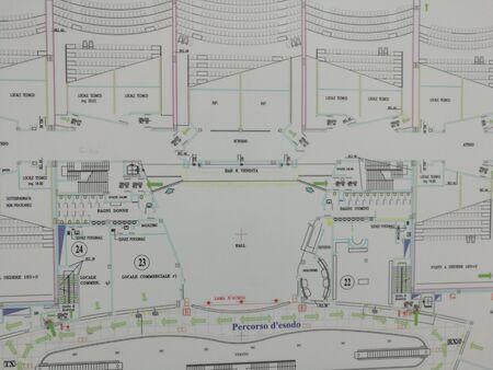 evacuacion: Plan de evacuación Foto de archivo