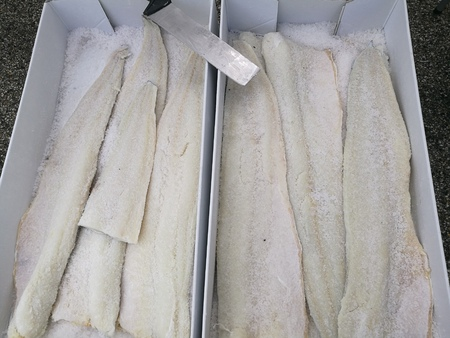 codfish: market codfish Stock Photo