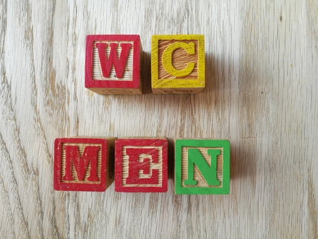 w c: WC men Stock Photo