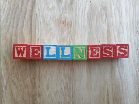 word: wellness word Stock Photo
