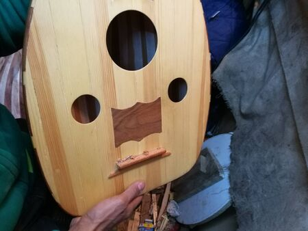 mandolin: artisan builds Mandolin Stock Photo