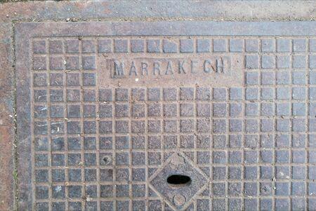 marrakesh manhole Stock Photo