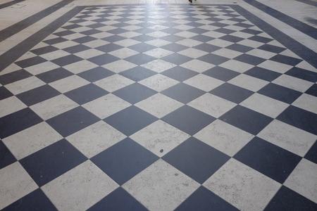 Checkered floor Stock Photo