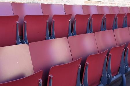 reclining metal chairs Standard-Bild