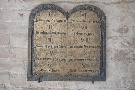 tablet of the ten commandments