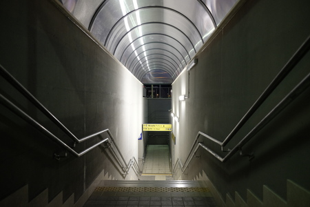 entrance with stairs for underpass