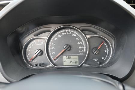 modern car dashboard Stockfoto