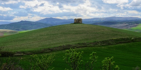 ruin in the Molise countryside Stock Photo
