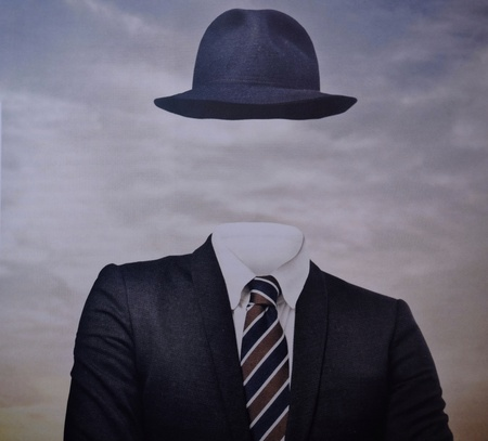 portrait of a faceless man Stock Photo