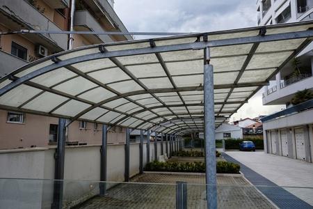 condominium carport in the city