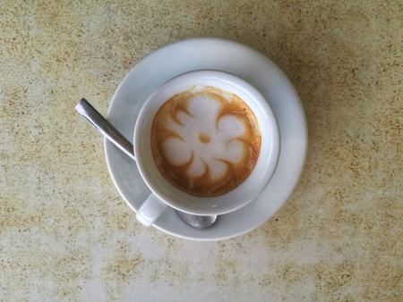 decorated coffee cup