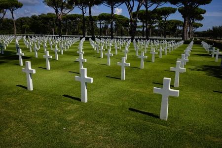 cementerio de guerra americano de neptuno Foto de archivo