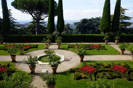 Barberini gardens of Castel Gandolfo 免版税图像