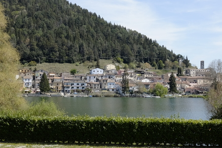 view of the village of piediluco