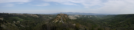 the characteristic town of Civita di Bagno Regio