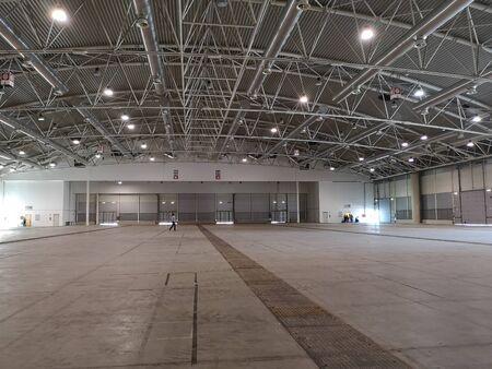 empty fair building warehouse Stock Photo