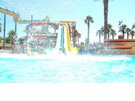 splash in the water slide