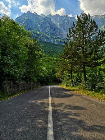 mountain range in Abruzzo along the road