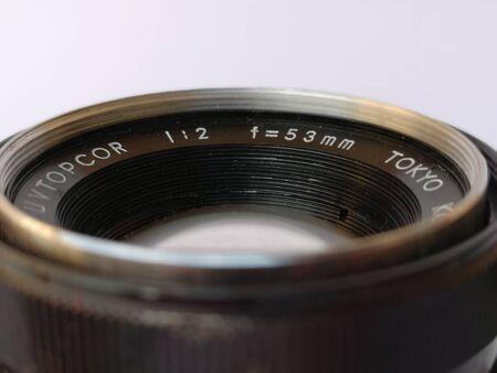 details of old vintage camera Stockfoto