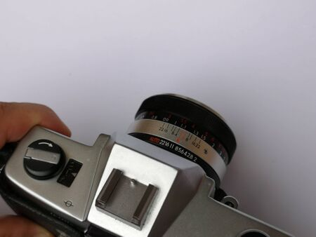 details of old vintage camera Stock Photo