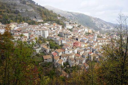 panorama of the town of Roccamandolfi