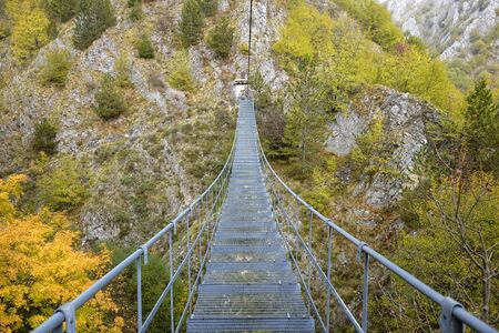 the Tibetan bridge of the village of Roccamandolfi