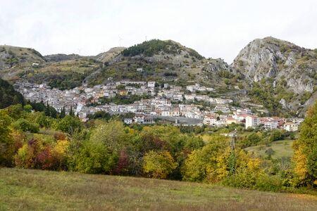 Panorama of the town of Roccamandolfi Banco de Imagens