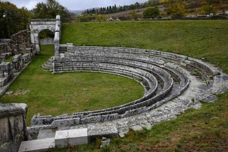 Archaeological site of Pietrabbondante in Molise