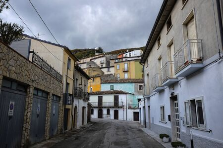 ancient medieval village of Guardiaregia Banco de Imagens