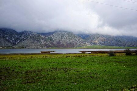 beautiful view of Lake Matese Banco de Imagens