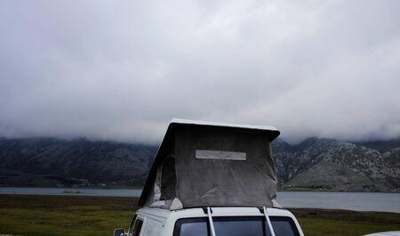 van with sleeping cabin above
