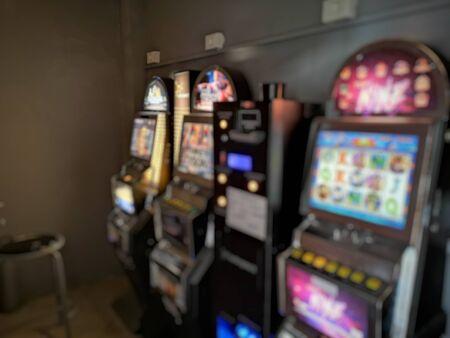 hall with machines for gambling Фото со стока