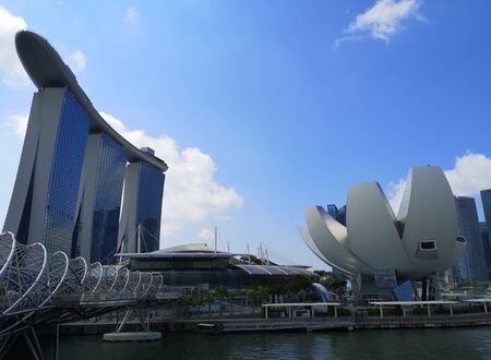view of marina bay in singapore Stock Photo