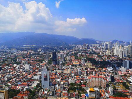the city of penang from the sky bridge Stockfoto