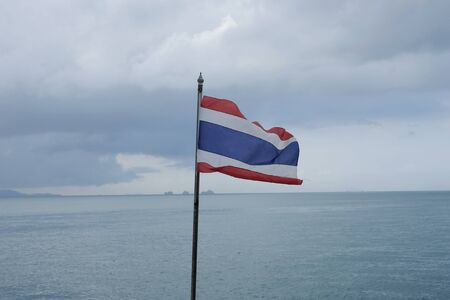 Thai flag blowing in the wind