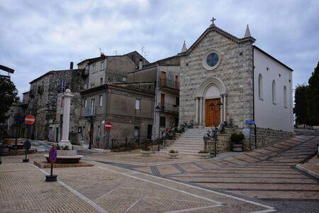 Lentella characteristic village in abruzzo, italy Stockfoto