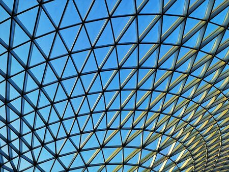 modern and geometric architecture with glass Stockfoto