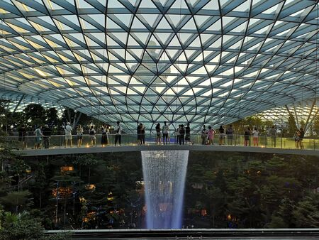 jewel singapore changi airport fountain