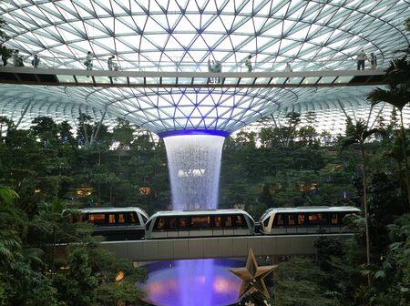 jewel singapore changi airport fountain Stock Photo