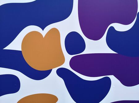 multi color background with rounded shapes 写真素材