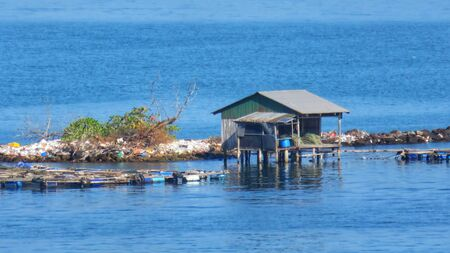 typical stilt houses near Sihanoukville in cambodia