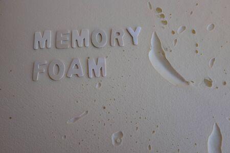 pillow background in memory foam