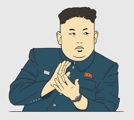 Przywódca Korei Północnej Kim Dzong Un podczas konferencji prasowej w Pjongjangu Publikacyjne