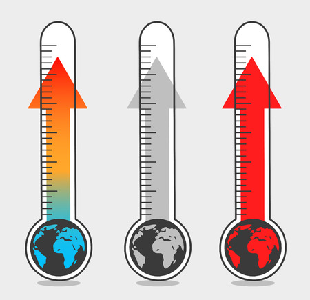Isolated illustrations of global warming Ilustrace