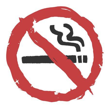 No smoking sign vector illustration Illustration